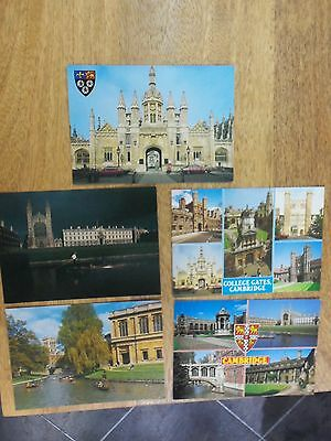 5 x postcards from Cambridge. unused not posted. J. Salmon