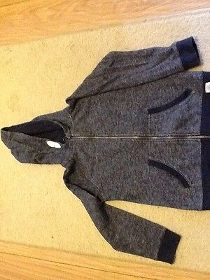 Debenhams Blue Zoo Marl Blue Hooded Zip Up Hoodie Age 9/10