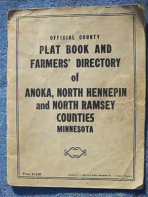 1955 Anoka County North Hennepin County and North Ramsey County plat book