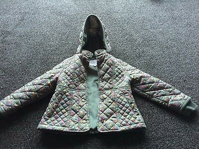 M&S Girls Floral Coat - Age 2-3 Years