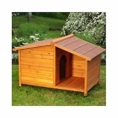 Large Wooden Dog Kennel Outdoor Shelter Weather Proof Winter House 102x64x65cm