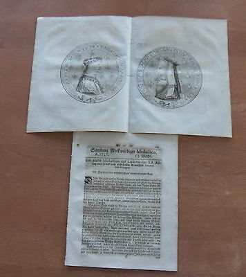 Old German Weekly Coin Newspaper From 1737 - 8 Pages - Original -