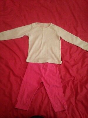 Girls Top And Knee Length Legging By George Age 4-5 Years In Very Good Condition
