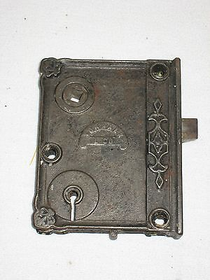 Norwalk Antique Vintage Door Knob Lock Mortise Pat'd 1873