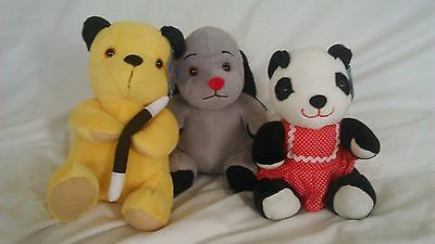 official bundle of sootys soft toys sooty sweep and sue bnwt