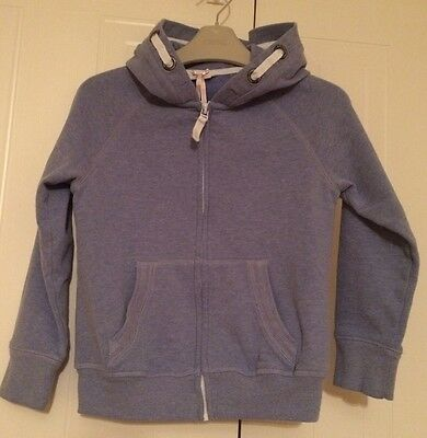 Girls Next Age 6 - Soft, Blue, Hooded Zip Up Top/ Jacket In Excellent Condition