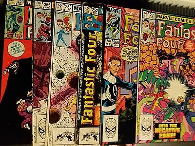Marvel Fantastic Four 1980's Job Lot 6 Issues