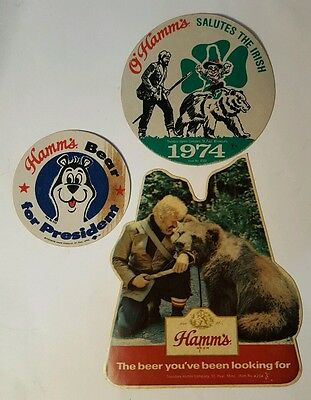 Vintage  HAMMS BEER stick ons Fasson - Collectible