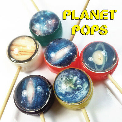 10 x Planet Image Lollipops