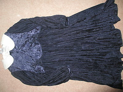 Little Darlings Paula Finnerty Dark Blue Dress Age 8 Beautiful Condition Xmas