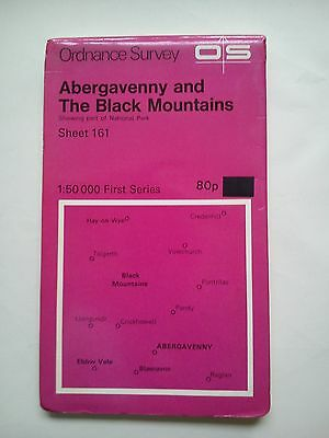 1:50 000 First Series OS Map Sheet 161 Abergavenny and The Black Mountains