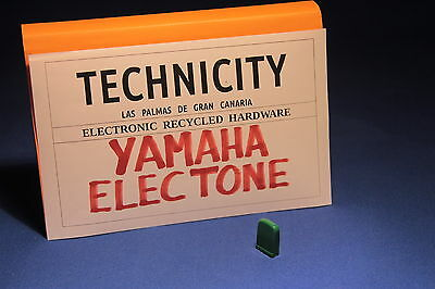 Yamaha Electone   - Plastic Knob Slide ( Green )  For Electone Organs - Tested