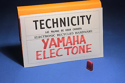 Yamaha Electone   - Plastic Knob Slide ( Red )  For Electone Organs - Tested