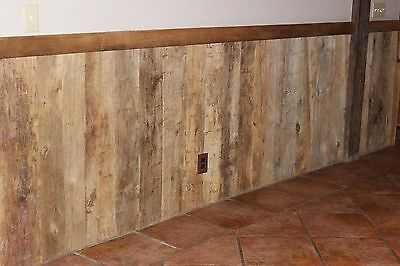 Reclaimed Hand Hewn Barn Wood Beam Face Cuts, Wainscoting, 140sq Ft