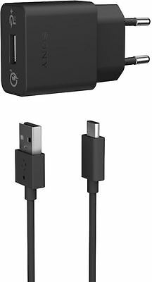 Sony UCH12W Fast Charger black incl. Typ B + C Kabel