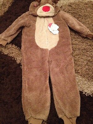 New Christmas All In One Warm Coat Themed 4-5 Years Rrp £17.00 Plush