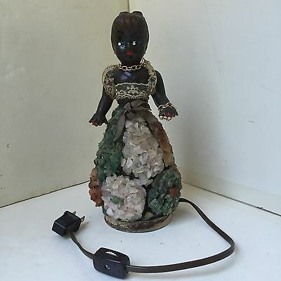 Folk Art lamp of African American Woman