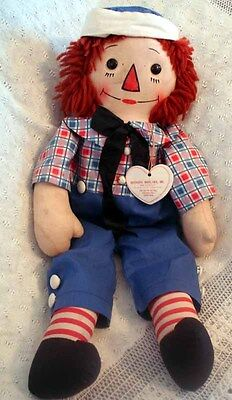 Georgene Novelties RARE EARLY 1920 RAGGEDY ANDY RARE WITH CLOTH TAG& PAPER TAG