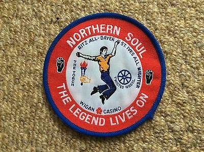 Vintage NORTHERN SOUL Patch Badge WIGAN CASINO TWISTED WHEEL THE TORCH ST. IVES