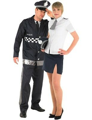 Police Couples Fancy Dress Costumes Small