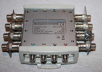 Vision Multiswitch V4-800G - 4X8 0Db Gain V4