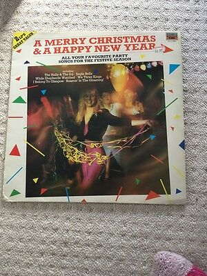 """A Merry Christmas & A Happy New Year RARE 1985 12"""" Vinyl LP 2 LP's With 4 Sides"""