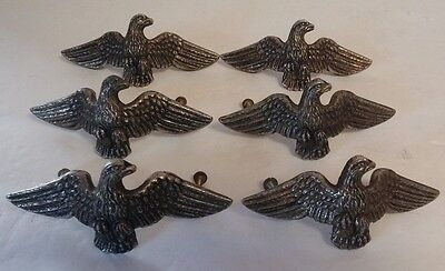 6 Antique Vintage Eagle Metal Brass Drawer Pulls Knobs Dresser Handles