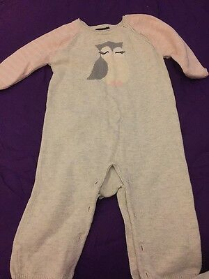 Baby Gap Girls Knitted Romper Age 3-6 Months