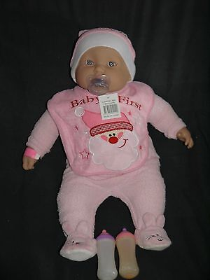 berenguer doll approx 52 cm dressed & magic bottles babies first christmas