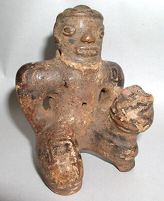 Pre-Columbian Mayan Pottery Maker Terracotta Figure ~  Costa Rica C. 600-900AD