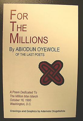 """For The Millions – Signed & Inscribed ~ Abiodun Oyewole of the """"Last Poets"""""""