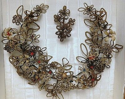 Wonderful Victorian Memorial Hair Wreath