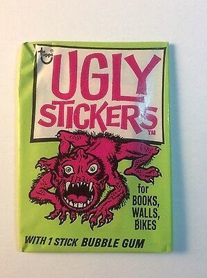 1973 1974 Topps Ugly Stickers Sealed Unopened Wax Pack