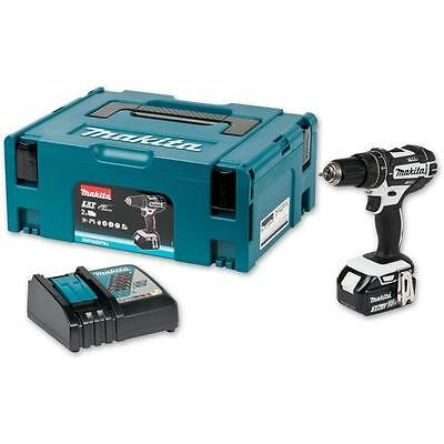 Makita Dhp482 M1 18V Lxt Combi Drill With 4.0Ah Battery Case & Charger Li-Ion