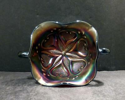 Dugan Carnival Glass Star Fish Amethyst Compote - MINT