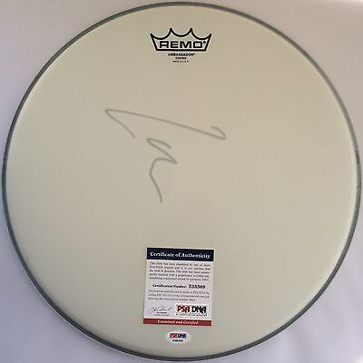 """Lars Ulrich Metallica Signed Remo 14"""" Drumhead Autographed PSA/DNA Z38369"""
