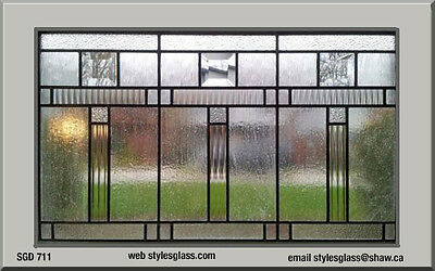 Beautiful Stain glass window Clear texture art glass & Bevels