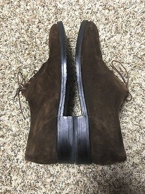Louis Roth Bench made in England mens oxfords shoes sz 12 M brown Suede