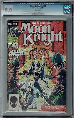 Moon Knight Volume 2 #1 Cgc 8.0 Vf Wp Marvel Comics 1985 Fist Of Khonshu Spectre