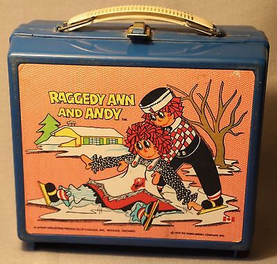 Vintage Plastic Aladdin 1973 Raggedy Ann And Andy Lunchbox ! Canada +