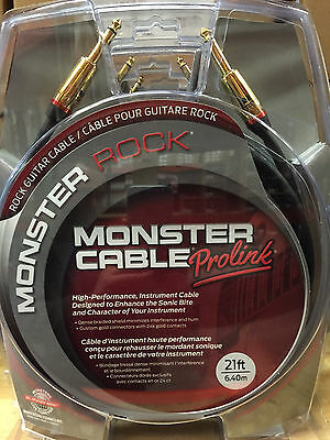 """Monster M-Rock2 21 Foot Straight 1/4"""" Guitar Instrument Cable Cord Rock 2"""