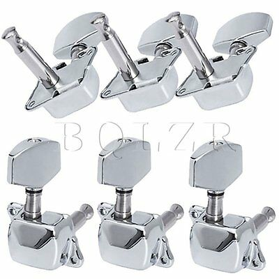 Chrome Semiclosed Acoustic guitar Tuning Pegs Machine Heads 3L3R