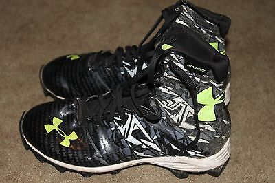 Under Armour Lax Highlight Rm Junior Lacrosse Cleats 1258695-001 Size 6y