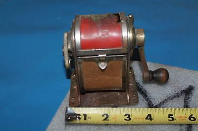 Vintage Manual Crank Pencil Sharpener With Lift Top Various Sizes