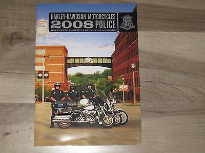 Harley Davidson 2008 Police Brochure And 100 Years Poster
