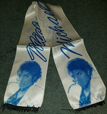 Michael Jackson Rare Concert Sash Double Sided Fabric Banner 40 Inches Portrait