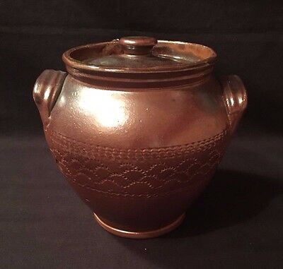 Unbranded Brown Clay Pot With Lid