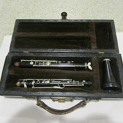 Rare Antique 1800's C870 Rosewood Oboe Made In Saxony