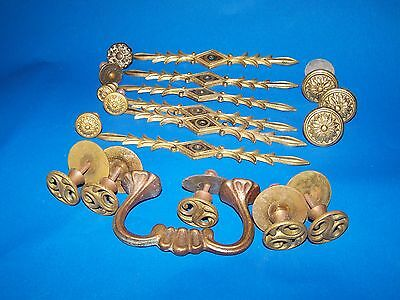 Vintage Drawer Pulls Knobs Decorative Plates Lot