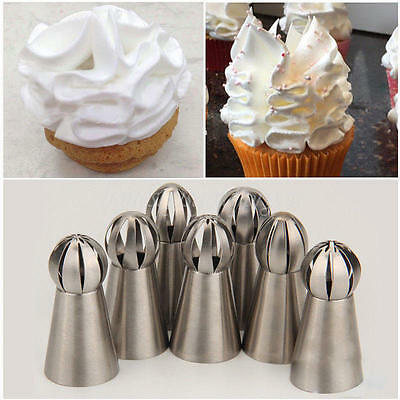 New Russian Icing Piping Nozzle Pastry Tip Cupcake Buttercream Baking Tool